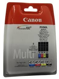 <b>Набор</b> картриджей <b>Canon CLI</b>-<b>451</b> Multipack C/M/Y/BK (6524B004 ...