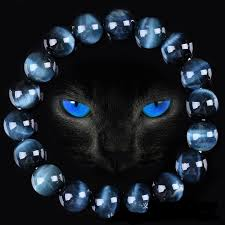 High Quality Blue Tiger Eye Buddha <b>Bracelets Natural Stone</b> Round ...