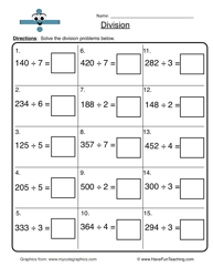 Division Worksheets - Have Fun TeachingDivision Worksheet 3