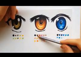 how to color using colored pencils manga eyes