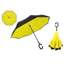 Windproof Reverse <b>Double Layered</b> Inverted Umbrella - Lightweight ...