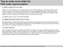 tips to write cover letter for field sales representative sales rep cover letter