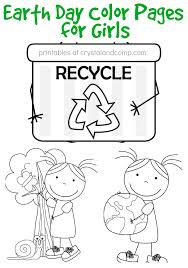 Small Picture Kid Color Pages Earth Day for Girls