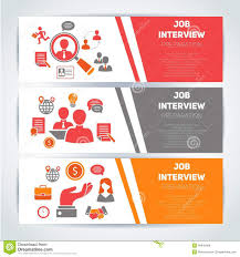 job search business cards job interview preparation flat banner job interview preparation flat banner horizontal set search