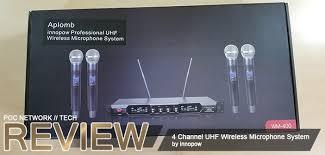 innopow <b>4 Channel</b> UHF <b>Wireless Microphone</b> System | Poc ...