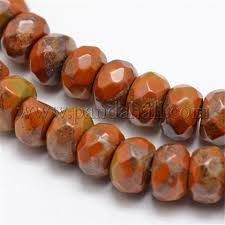 <b>Wholesale Faceted Natural</b> Bamboo Leaf <b>Stone</b> Rondelle Beads ...