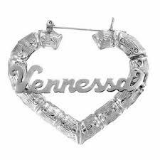 Heart-Shaped <b>Name Hoop Earrings</b> in Sterling Silver (10 Characters ...