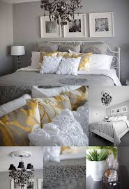 yellow and gray bedroom:  images about gray amp yellow decor on pinterest grey walls grey and side tables