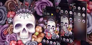Colorful <b>Flower Skull</b> Fancy Theme - Apps on Google Play