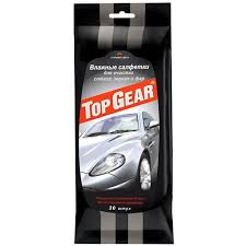 "<b>Салфетки влажные</b> для стекол, фар, зеркал ""<b>Top Gear</b>"", 30 штук ..."