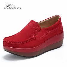<b>Hosteven Women Shoes</b> Ballet <b>Sneaker</b> Cow Suede Leather Flat ...