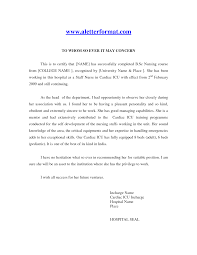 nursing recommendation letter example  cover letter templates letter examples middot recommendation template for co workers nurse from doctor curriculum vitae