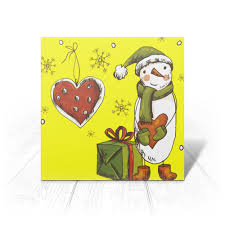 """Открытка """"<b>Снеговик</b>, любовь, подарок."""" #2608529 от madam ..."""