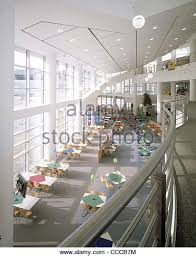 pfizer headquarters portrait view of dining area from 1st floor mezzanine stock image agri office mezzanine
