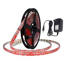 Amazon.com: <b>LAIMAIK LED Strip Light</b> kit Red with US Power ...