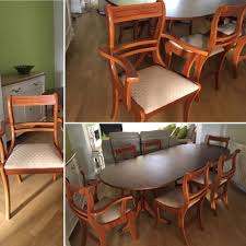 Yew Dining Room Furniture Yew Dining Room Table And 4 Chairs And 2 Carvers In Good Condition