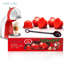 gamlung 5 pcs refillable dolce gusto coffee capsule nescafe reusable with premium gift package