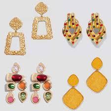 Flatfoosie ZA Boho Golden <b>Big</b> Dangle Earrings For <b>Women Crystal</b> ...