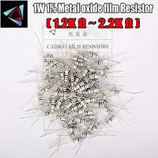 <b>20Pcs</b> 5% 1W Metal Oxide Film Resistor 1.2K <b>1.5K</b> 1.8K 2K 2.2K ...