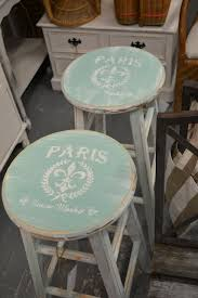 image transfer painted on bar stools with vintage french shabby chic style by speetway chic shabby french style