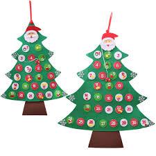 1pc <b>Felt Christmas Tree Shape</b> Countdown Calendar Christmas ...