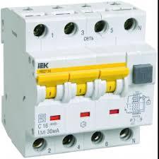 Автоматические <b>выключатели дифференциального тока IEK</b>