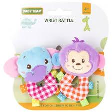 ROZETKA | Погремушка-браслет <b>Baby</b> Team Слоник и обезьянка ...