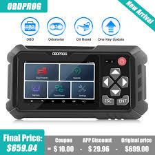 <b>OBDPROG M500 OBD2 Scanner</b> Mileage Adjustment Tool Oil Reset ...