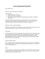 goal setting assignment   step   my strengthsresources while i   pages career exploration worksheet