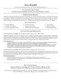 best resume sample cv for accounts payable clerk accounts payable    account payable job description account payable resume objective