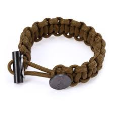 EDC Gear Survival Bracelet Rope with Scraper Buckle Flint Fire ...