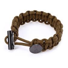 EDC Gear Survival Bracelet Rope with Scraper Buckle Flint Fire ...