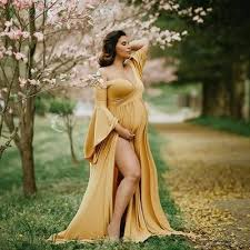 Loose <b>Large Size Long-sleeved</b> Maternity Dress – Maternity Smile