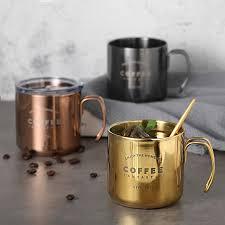<b>304 Stainless Steel Coffee</b> Mugs Double Titanium Anti hot Mug ...