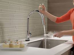Delta Touch Kitchen Faucet Faucetcom 9159t Dst In Chrome By Delta