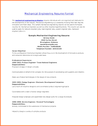 cv format for mechanical engineer bussines proposal  6 cv format for mechanical engineer