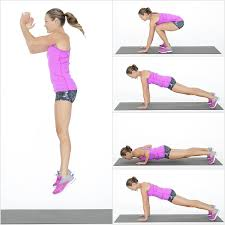Image result for woman burpees workout