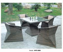 creative diamond shaped table chair set modern design rattan garden leisure balcony hotel holiday outdoor furniture beach style balcony helius lighting group