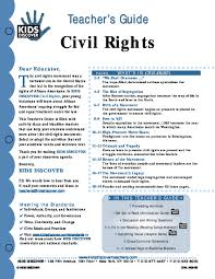 civil rights movement heroes text and lesson plans for students civil rights kids discover teacher guide