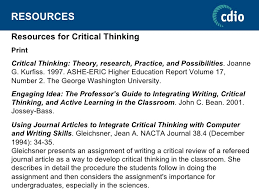 CRITICAL THINKING SKILLS IN TEACHER EDUCATION  NEED AND STRATEGIES