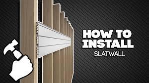 How to Install Proslat <b>Slatwall</b> - YouTube