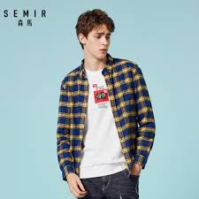 <b>Semir</b> Long sleeve shirt male young spring and autumn 2019 ...