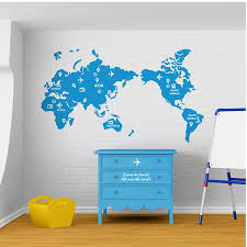 World <b>Map Wall Stickers</b> Large New Design Coffee Shop Pattern ...