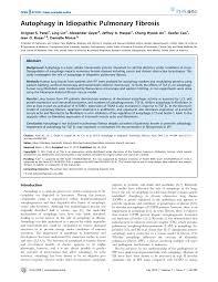 (PDF) Autophagy in Idiopathic Pulmonary Fibrosis