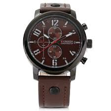 <b>Curren</b> 8192 Men Leisure Leather Strap watch Quartz Analog ...