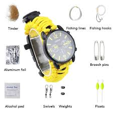 7 In 1 Outdoor Camping Survival Men Watch Fishing Tool <b>Set</b> ...