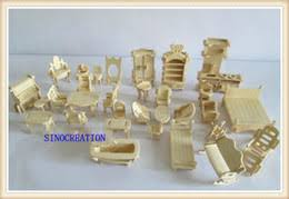 diy mini furniture 34pcs set childrens educational wooden dollhouse furniture toy 3d woodcraft puzzle construction kit toy affordable dollhouse furniture