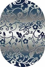 Купить Овальный <b>ковер SILVER D214 GRAY</b>-BLUE по цене 680 ...