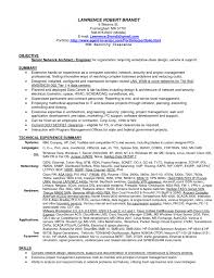 Network Security Resume  cover letter junior network administrator     computer consultant resume