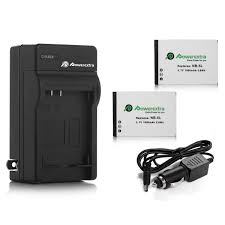 Powerextra <b>2</b> Pack Replacement Canon <b>NB</b>-5L Battery and Charger ...